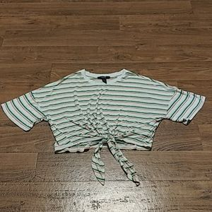Gently used striped crop top from forever 21